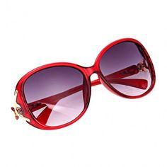 Fashion Unisex Oversize Lens Sunglasses Glasses Eyewear Plastic Frame Gold Trim Temple