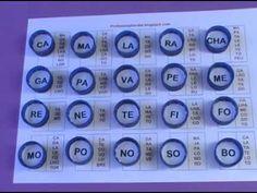 BINGO DAS SÍLABAS RECICLADO - YouTube Bingo, Phonics, Calculator, Crafts For Kids, Learning, Youtube, Camilla, Homeschooling, Tapas