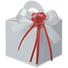 5 Geschenkschachteln Quadrat mit Henkel weiß von Der Schachtel Shop auf DaWanda.com