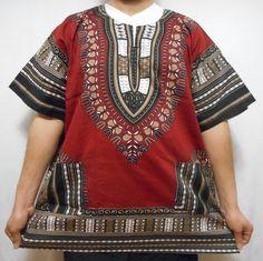 Men Dashiki African Shirt Beach Top Vintage Boho Blouse Hippie Style Tribal Wear #Decoraapparel #Dashiki