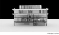 Hunt Library Addition: Transverse Section 1 Draft #kerrianfrance #48105-S15