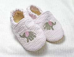 Baby shoes, cloth baby shoes, baby shower gift, crib shoes, baby slippers, newborn shoes, toddler shoes, baby girl shoes, seersucker shoes