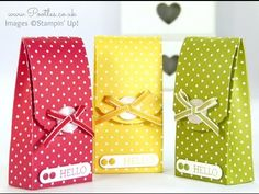 Spotty Magnet Bag Tutorial using Stampin' Up! DSP - YouTube