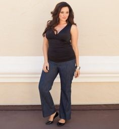 Dillon Denim Trousers @ www.kiyonna.com  these look soooo comfy. can't wait to get another coupon code... :)