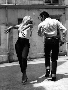 Brigitte Bardot learning Flamenco, c. 1958