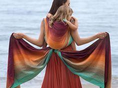 Risultati immagini per baby wrapping long colourful wrap
