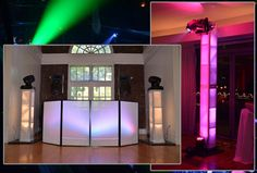 Spandex Speaker Stand Covers | Wedding Reception Lighting: Dance Floor and Effects Lighting