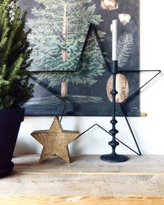#kwantuminhuis Decoratie STER (verkrijbaar in de winkels) @_finntage Woodland Christmas, Christmas Mood, Noel Christmas, Rustic Christmas, Christmas Crafts, Christmas Interiors, Blog Deco, Scandinavian Christmas, Xmas Decorations