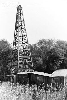Old oil derrick in West Virginia, the heartbeat of my childhood summers