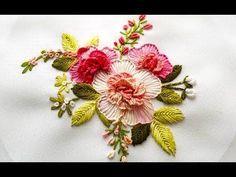 Hand embroidery designs.Hand embroidery stitches tutorial-Button hole stitch,cretan stitch. - YouTube