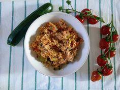 Czary w kuchni- prosto, smacznie, spektakularnie.: Potrawka ryżowa z cukinią i szynką długo-dojrzewaj... Risotto, Oatmeal, Grains, Rice, Breakfast, Ethnic Recipes, Kitchen, Food, Cuisine