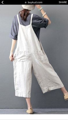 e652560a894 Casual loose jumpsuit linen overall - Buykud
