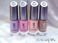 Oriflame The One Long Wear Nail Polish Review & Swatches in Strawberry Cream, Lilac Silk, Ballerina Rose and Cappuccino