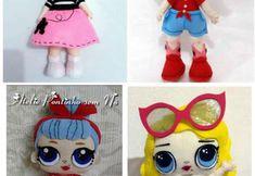 Muñecas lol en fieltro con moldes