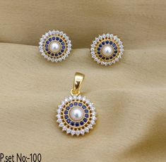 Flower Style With Blue Stone & Gold Plating. Rama Creations Manufacturer & Wholesalers of Designer Antique Jewellery in India. Gold Jewellery Design, Antique Jewellery, Silver Jewelry, Pendant Earrings, Gold Pendant, Pendant Jewelry, Stone Gold, Pendant Design, Cozy Bedroom