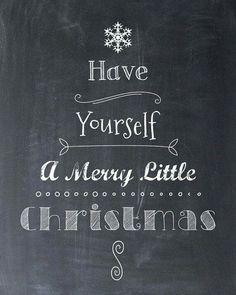 Christmas Chalkboard Printable Art Merry Little Tree