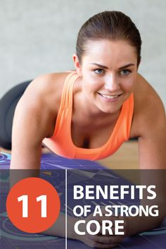 Check out the 11 benefits of having a strong core! Number 5 is our favorite.