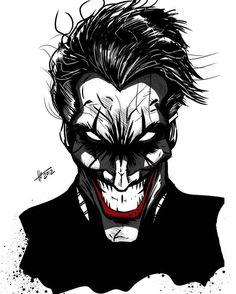 Joker by DiegoLlorente Harley Quinn Et Le Joker, Le Joker Batman, Joker Comic, Batman Art, Dc Comics Art, Marvel Dc Comics, Art Du Joker, Jokers Wild, Batman Tattoo
