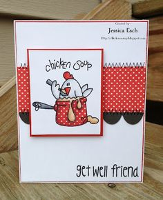 Get well card for  a friend w/Bugaboo Stamps  http://chick-n-scrap.blogspot.com/2012/10/get-well-soon-card-for-naomis-son-2nd.html