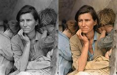 Famous old b&w photos colourised by Sanna Dullaway  http://agonistica.com/famous-old-bw-photos-colourised-by-sanna-dullaway/
