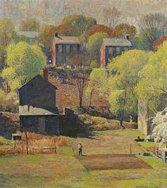 Impressionist Landscape, Impressionist Artists, Landscape Art, Landscape Paintings, Art Espoir, Ligne D Horizon, Hope Art, Grant Wood, American Impressionism