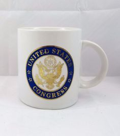 United States Congress Mug Coffee Cup with Gold Trim