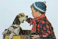 Jongen met beagle