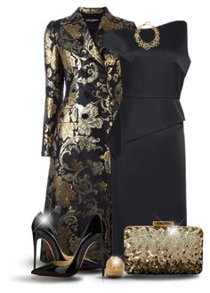 """Dolce & Gabbana Floral Coat"" by oribeauty-cosmeticos ❤ liked on Polyvore featuring Dolce&Gabbana, Roland Mouret, Oscar de la Renta and Christian Louboutin"