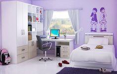Decoración de dormitorios juveniles para chicas