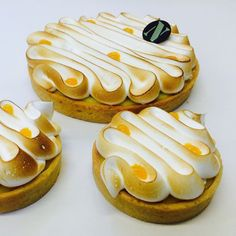 New our citrus tart kalamansi lemon verbena cream with yuzu merengue!!! by patisserielinnick