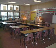 Tons of classroom seating arrangement ideas!