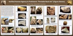 Presentation Poster on Portable Rock Art / Figure Stones, 2013 IFRAO Rock Art Conference in Albuquerque, New Mexico