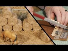 Realistic Hay Bales – Model Railroad Scenery More Train Miniature, Hobby Trains, Hay Bales, Model Train Layouts, Model Building, Classic Toys, Model Trains, Scenery, Planting
