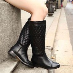 Chanel 2015 new style leather Boots CB122