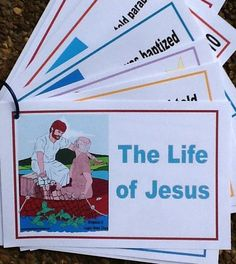 Life of Jesus Booklet, Cards, Pictures To Color Printables