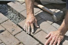 In order to repair the brick paver patio, you'll need the materials which are needed for the regular pavers.