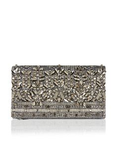 Turn up the glamour on your evening ensembles with our Anna beaded clutch bag. In a fold-over design with a zip fastening, it'll have you grasping sophistica...