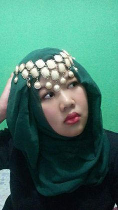 Hijab style for party....
