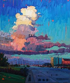 """""""High Clouds Over The Emerald,"""" by Rene' Wiley by Rene' Wiley Gallery Oil ~ 24 x 20"""