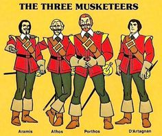 remember these musketeers--- from the Banana Splits show....