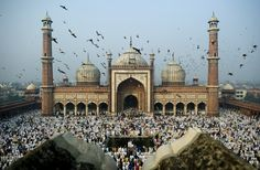 Indian Muslims perform congregational Eid al-Adha morning prayers at the Jama Masjid mosque in New Delhi on November What Is Eid, Crime In India, Muslim Pray, Jama Masjid, Festivals Of India, Indian Festivals, India Usa, Delhi India, Eid Al Adha
