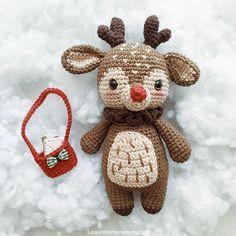 Mesmerizing Crochet an Amigurumi Rabbit Ideas. Lovely Crochet an Amigurumi Rabbit Ideas. Christmas Crochet Patterns, Holiday Crochet, Crochet Patterns Amigurumi, Crochet Gifts, Cute Crochet, Knitting Patterns, Crochet Deer, Knitting Stiches, Crochet Amigurumi