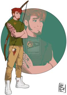 Disney University - Robin Hood = He's studying English literature but his real passion are sports and comics. Fan of Hunger Games always with his mockingjay pin.  He is very rebel and fight against injustice around you  Robin Hood is the leader of the Archery club at the university.  He loves the outdoors, nature and animals. Robin is secretly in love with Marian  by Hyung86.deviantart.com on @deviantART