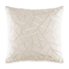 Catherine Malandrino Optic Matrix Square Throw Pillow in Ivory