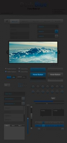 Dark Blue Web UI