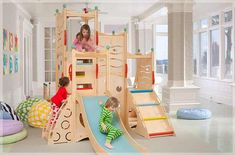 Would need a tall ceiling but would love to have an indoor playground, especially on those rainy, cold, wet days.
