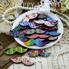 20Pcs Mini Handmade Colorful Moustache Charms / by happysupplies, $8.00