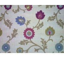 Clarke & Clarke Kashmir F0632/04 orchid embroidery curtain fabric