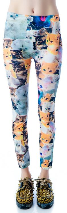 I'd honestly wear these if the kittens didnt have inverted crosses on them :(