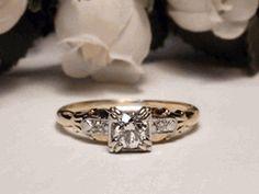 Vintage 1940's wedding ring